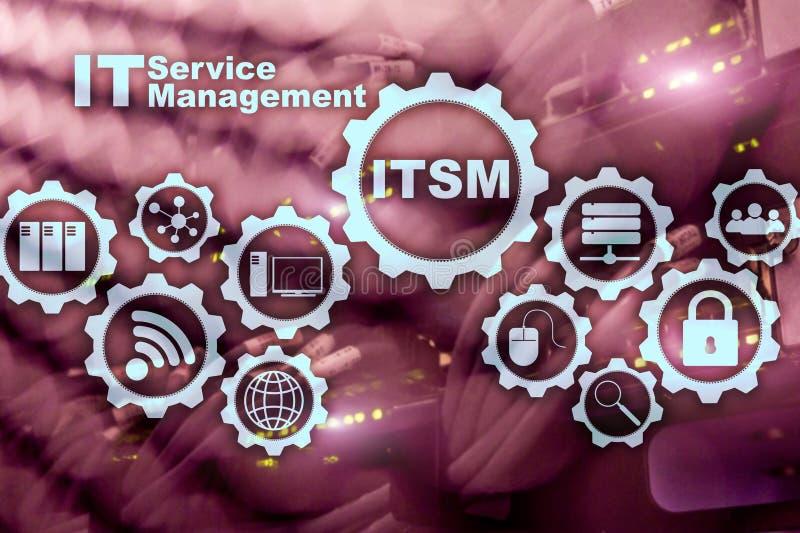 ITSM O TI presta serviços de manutenção à gestão Conceito para a gestão do serviço da tecnologia da informação no fundo do super- ilustração royalty free