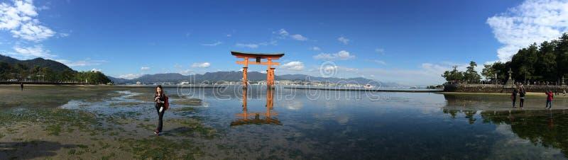 Itsukushima寺庙 库存照片