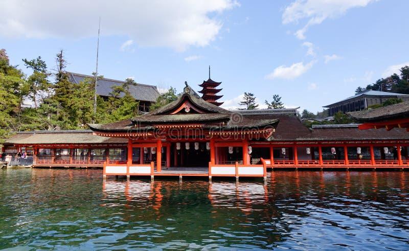 Itsukushima świątynia w Hiroszima, Japonia obraz stock