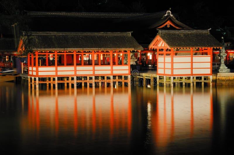 Itsukushima Schrein stockfotografie