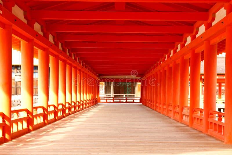 Itsukushima Schrein - Flur stockbild