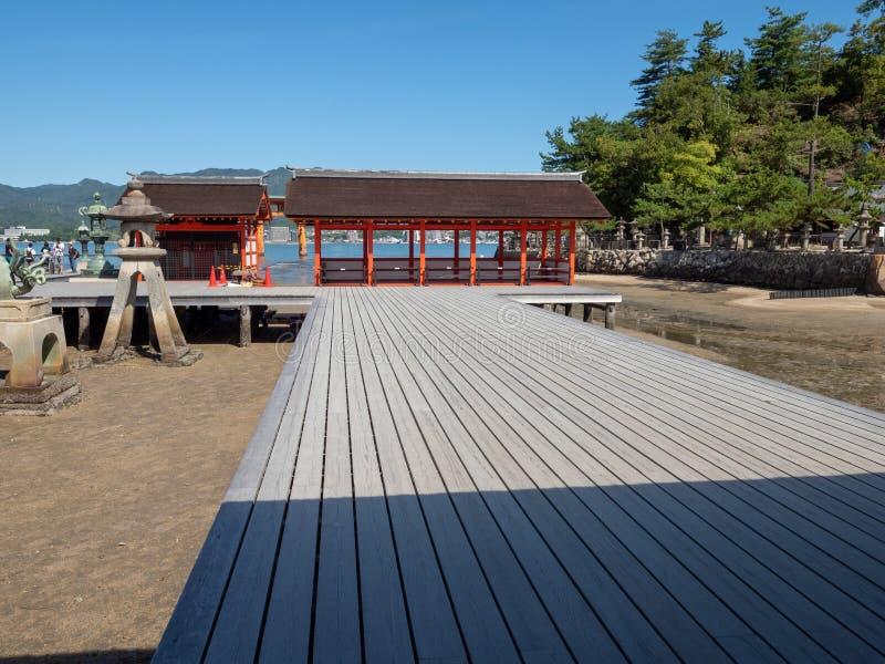 Itsukushima-Schrein, Japan lizenzfreies stockbild