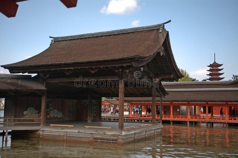 Itsukushima Schrein, Miyajima, Japan lizenzfreie stockfotografie