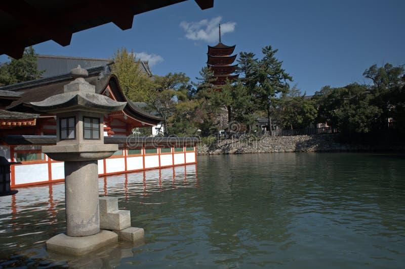 Itsukushima Schrein, Miyajima, Japan lizenzfreies stockfoto