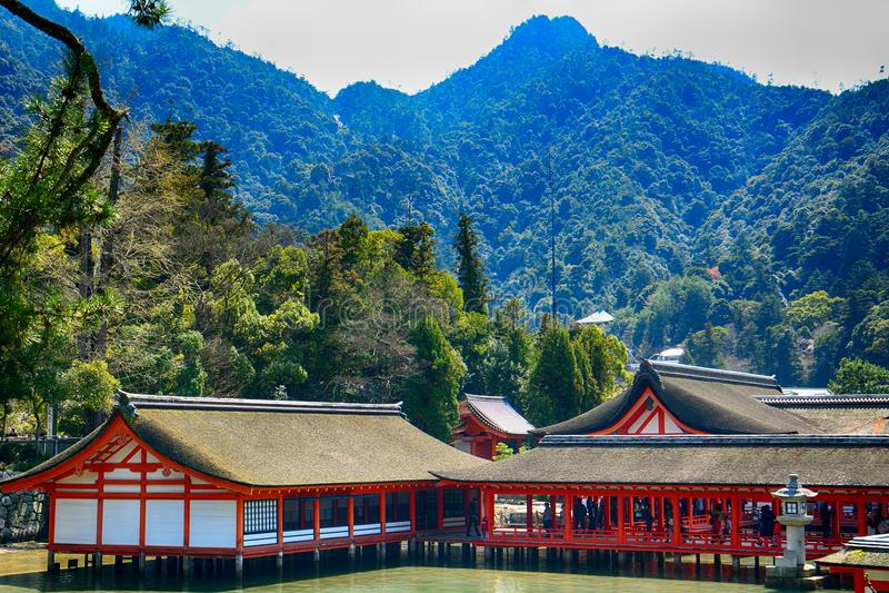 Itsukushima Shinto Shrine, Miyajima, Japan royalty free stock images