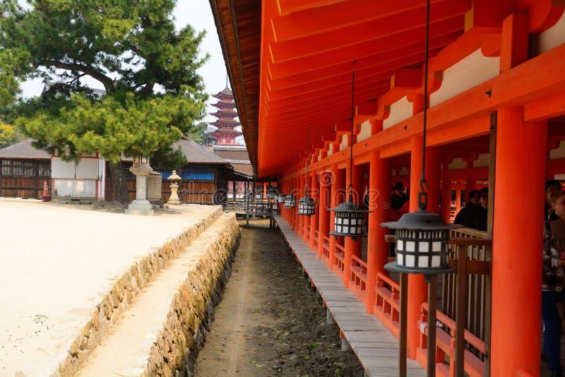 Itsukushima Shinto Shrine, Miyajima, Japan stock images
