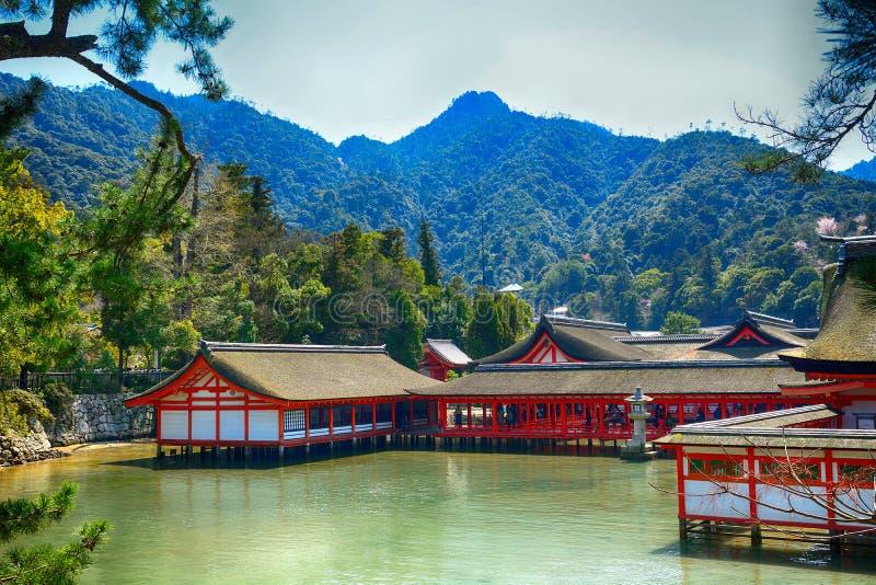 Itsukushima Shinto Shrine, Miyajima, Japan stock photography