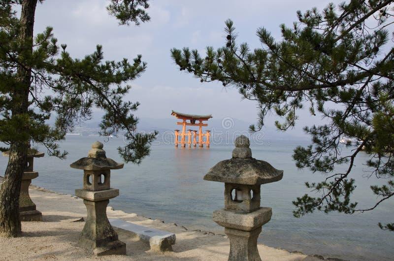 Itsukushima Shrine. On Miyajima Island, near Hiroshima, Japan royalty free stock photos