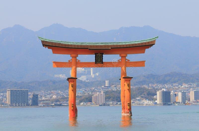 Itsukushima shrine Miyajima island Hiroshima Japan. Itsukushima shrine Miyajima island in Hiroshima Japan stock photography
