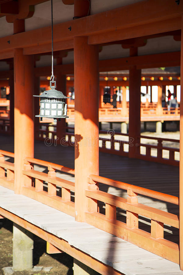 Itsukushima Shrine at Miyajima island, Japan. Detail of Itsukushima Shrine at Miyajima island, Japan stock image