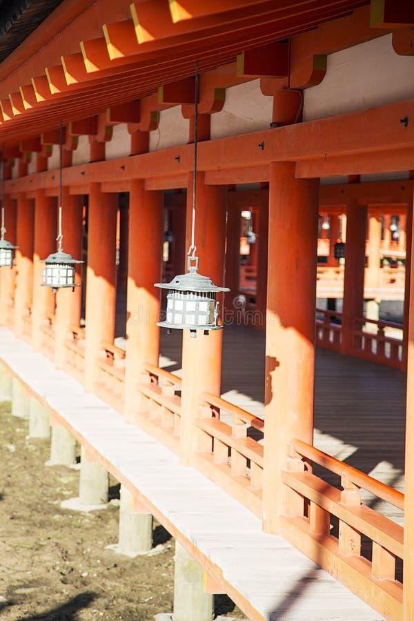 Itsukushima Shrine at Miyajima island, Japan. Detail of Itsukushima Shrine at Miyajima island, Japan royalty free stock photo