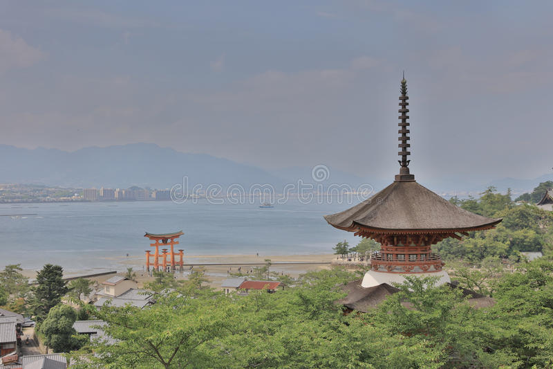 Itsukushima Shrine - Miyajima, Japan. The Itsukushima Shrine - Miyajima, Japan royalty free stock photo