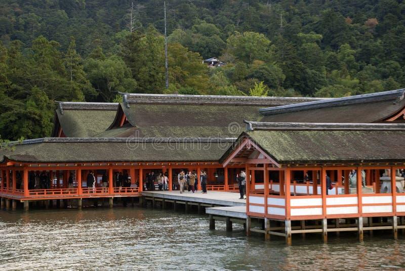Itsukushima Shrine, Miyajima, Japan. Itsukushima Shrine in the holy island of Miyajima, Japan royalty free stock photo
