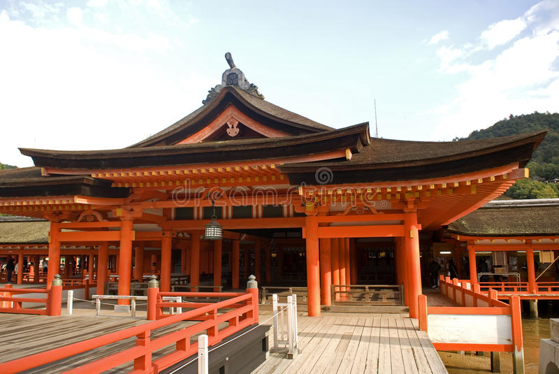 Itsukushima Shrine, Miyajima, Japan. Itsukushima Shrine in the holy island of Miyajima royalty free stock images