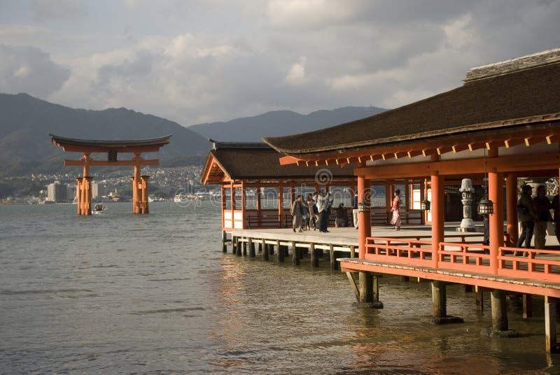 Itsukushima Shrine, Miyajima, Japan. Itsukushima Shrine in the holy island of Miyajima, Japan stock image