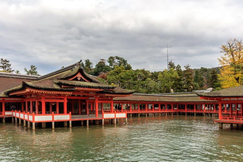 Itsukushima Shrine temple in Miyajima. Japan stock images