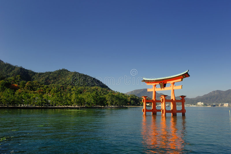 Itsukushima Torii fotos de stock royalty free
