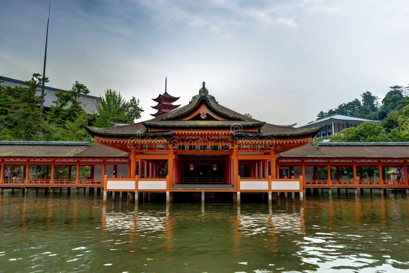 Itsukushima Torii Shrine Miyajima Island. Miyajima Island, Hiroshima Japan October 2017 royalty free stock images