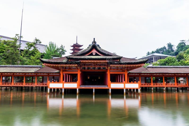 Itsukushima Torii Shrine Miyajima Island. Miyajima Island, Hiroshima Japan October 2017 royalty free stock photography