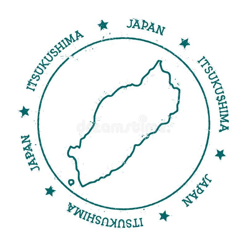 Itsukushima vector map stock vector Illustration of itsukushima