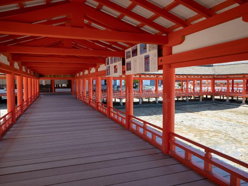 Itsukushimaheiligdom, Japan royalty-vrije stock foto's