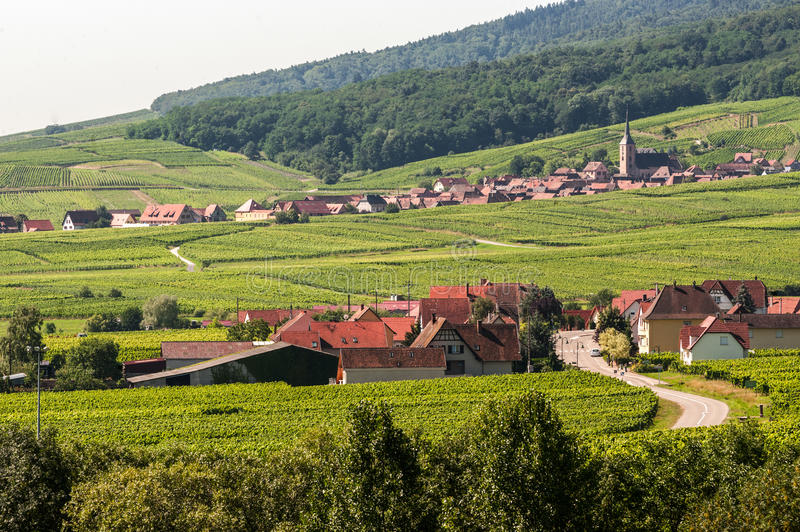 Itterswiller (Alsace) - panorama arkivfoto