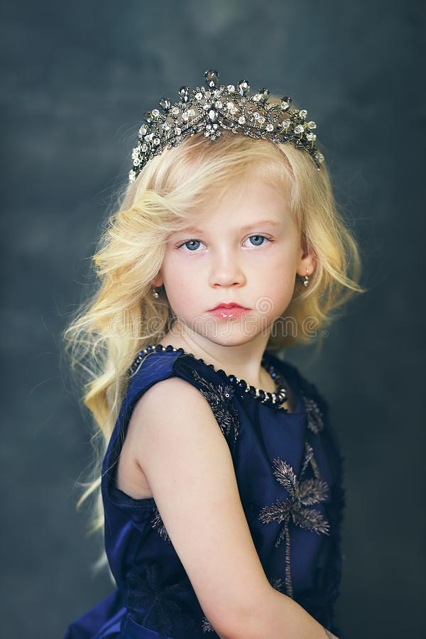 Ittle girl with blond hair royalty free stock photo
