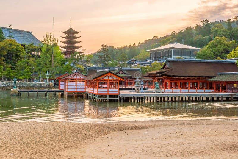 Itukashima świątynia na Miyajima wyspie, Hiroszima prefektura fotografia stock