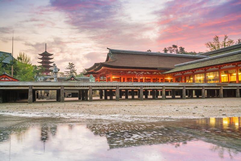Itukashima świątynia na Miyajima wyspie, Hiroszima prefektura fotografia royalty free