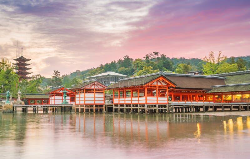 Itukashima świątynia na Miyajima wyspie, Hiroszima prefektura obrazy royalty free