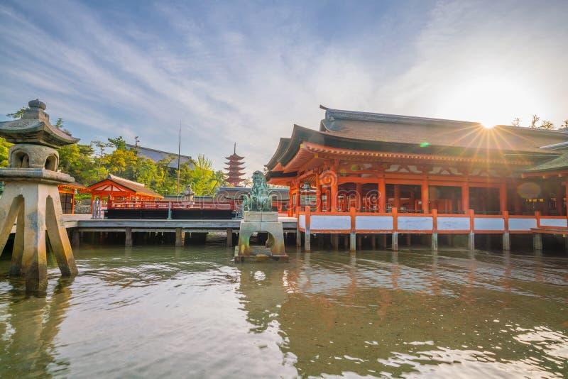 Itukashima świątynia na Miyajima wyspie, Hiroszima prefektura obraz stock