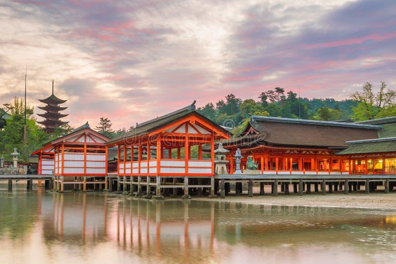 Itukashima świątynia na Miyajima wyspie, Hiroszima prefektura zdjęcie royalty free