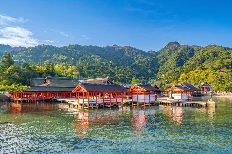Itukashima świątynia na Miyajima wyspie, Hiroszima prefektura obraz royalty free