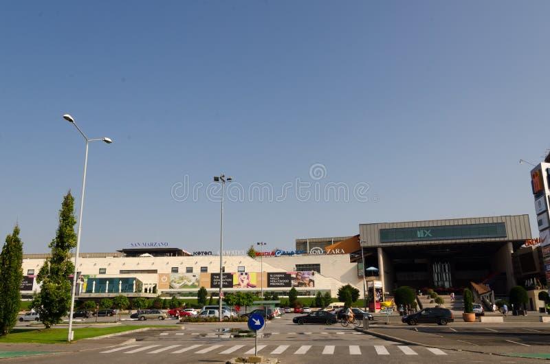 Iulius Mall Timisoara fotografia stock