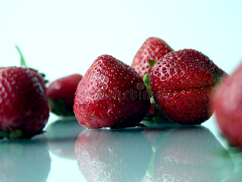 iv草莓 库存图片