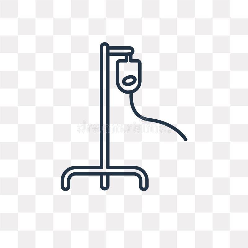 Iv wektorowa ikona odizolowywająca na przejrzystym tle, liniowy Iv tra royalty ilustracja