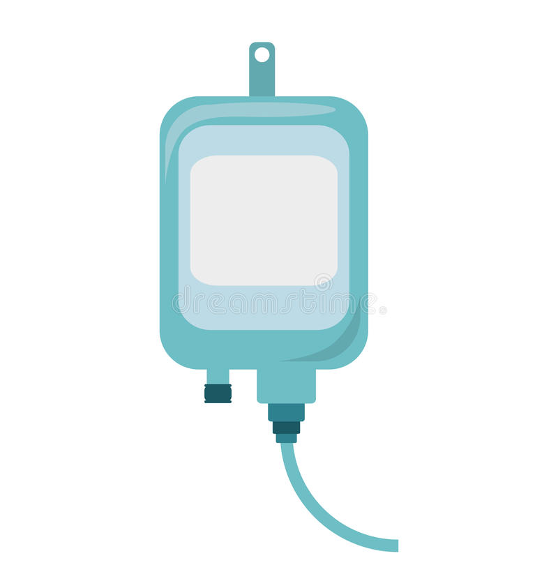 Iv zak medisch geïsoleerd pictogram stock illustratie