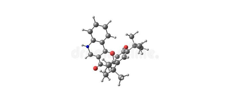 Ivacaftor δομή που απομονώνεται μοριακή στο λευκό ελεύθερη απεικόνιση δικαιώματος