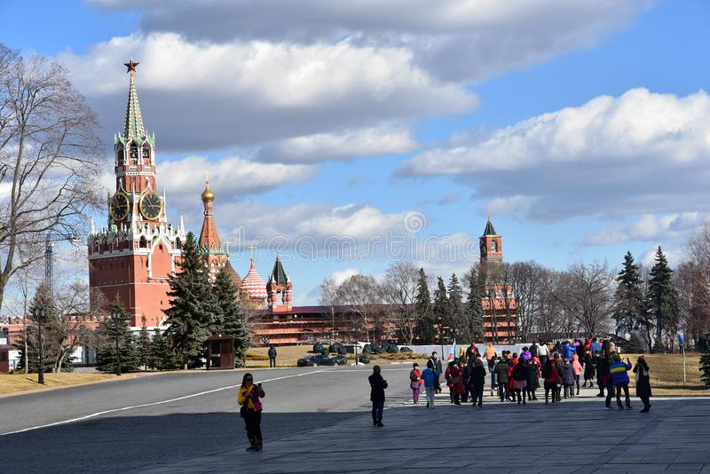 Ivan Great Bell tower of Moscow Kremlin. UNESCO World Heritage Site. stock photography