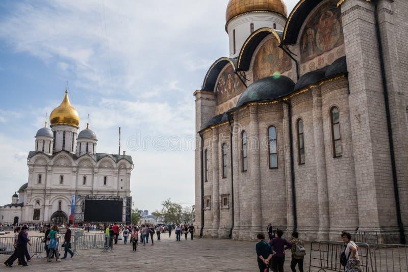 Ivan il grande campanile e la cattedrale di Dormition immagine stock libera da diritti