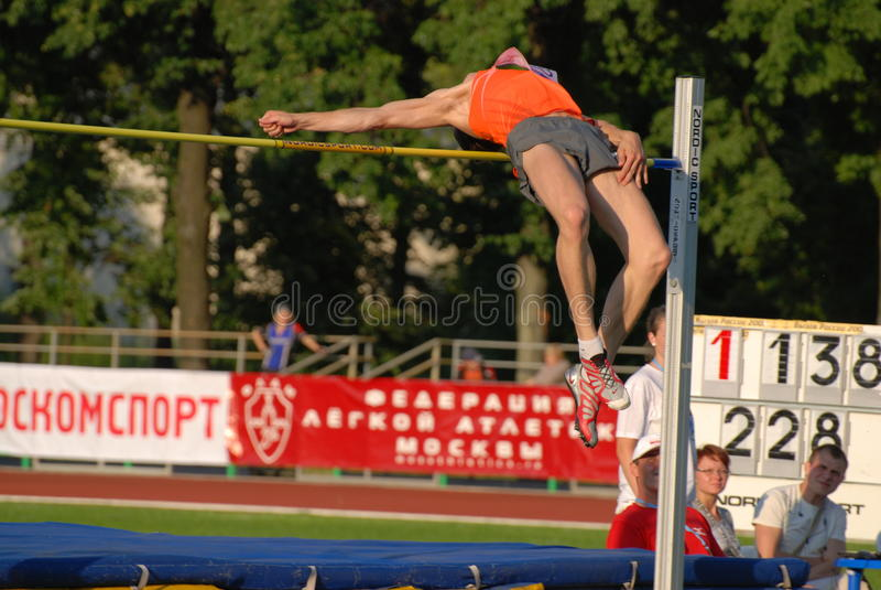 Ivan Ukhov, high jump royalty free stock images