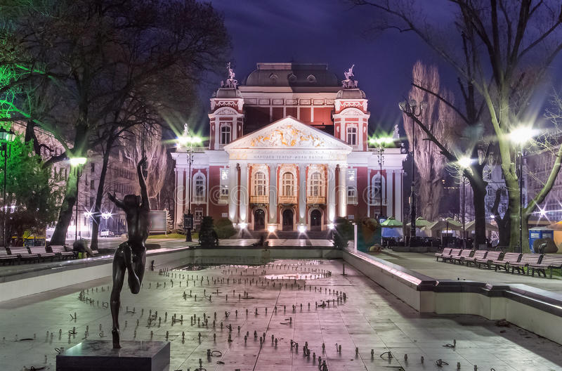 Ivan Vazov National Theater à Sofia - en Bulgarie images stock
