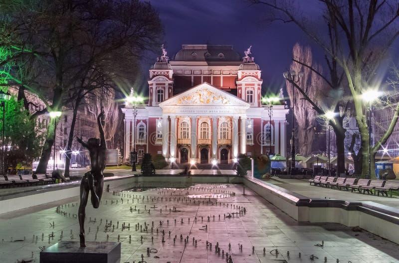 Ivan Vazov National Theater em Sófia - Bulgária imagens de stock