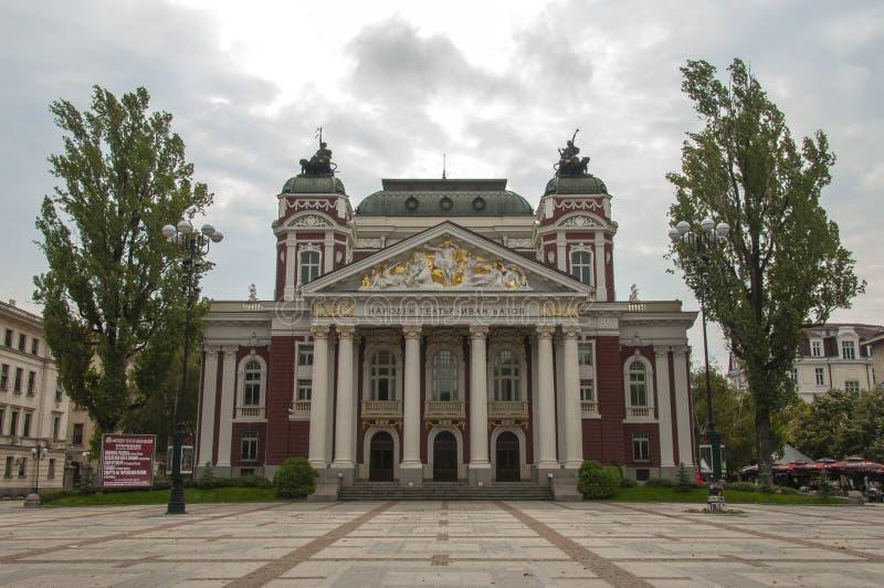 Ivan Vazov National Theater em Sófia, Bulgária imagens de stock