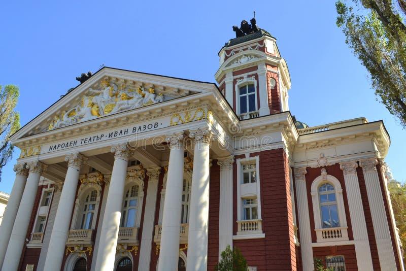 Ivan Vazov National Theater Sofia Bulgaria royaltyfri foto