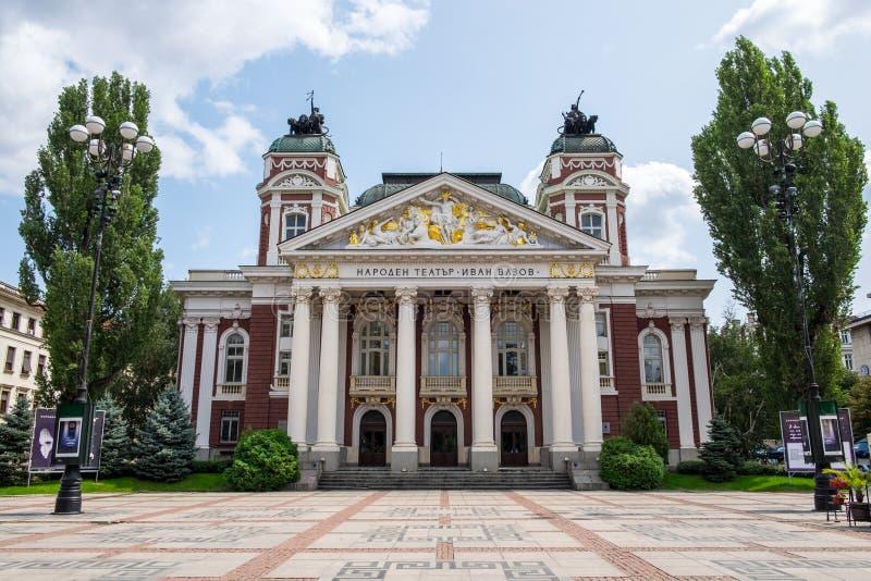 Ivan Vazov National Theatre fotografering för bildbyråer