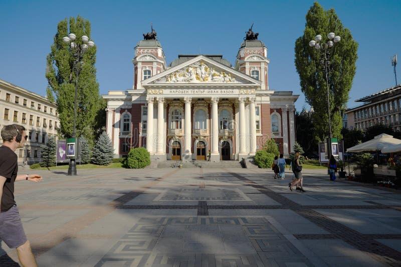 Ivan Vazov National Theatre In Sófia, Bulgária foto de stock