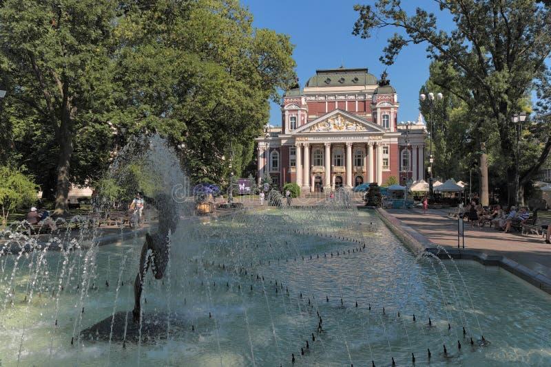 Ivan Vazov National Theatre In Sófia, Bulgária imagens de stock royalty free