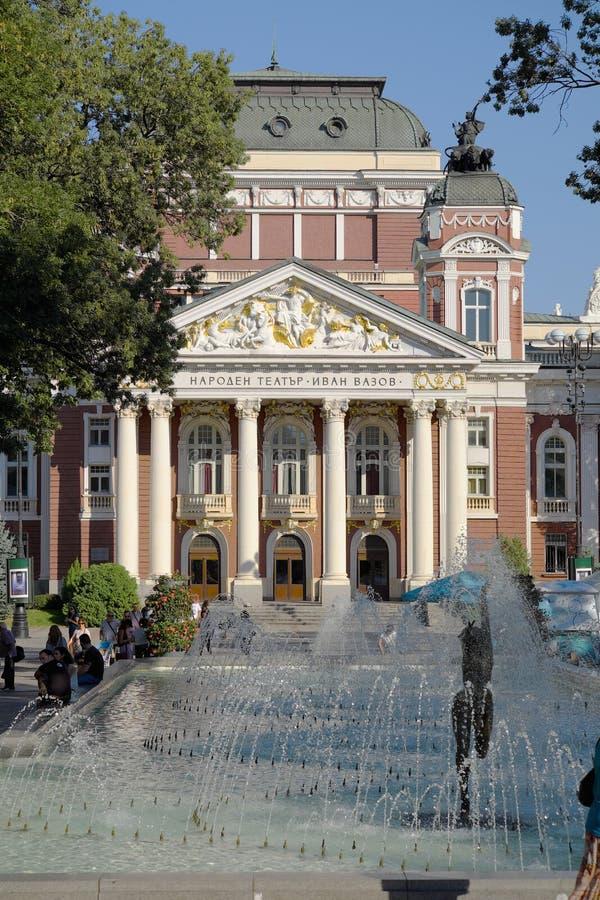 Ivan Vazov National Theatre In Sófia, Bulgária imagem de stock royalty free