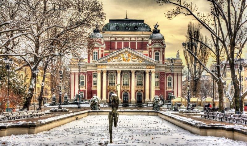 Ivan Vazov National Theatre in Sofia royalty-vrije stock fotografie